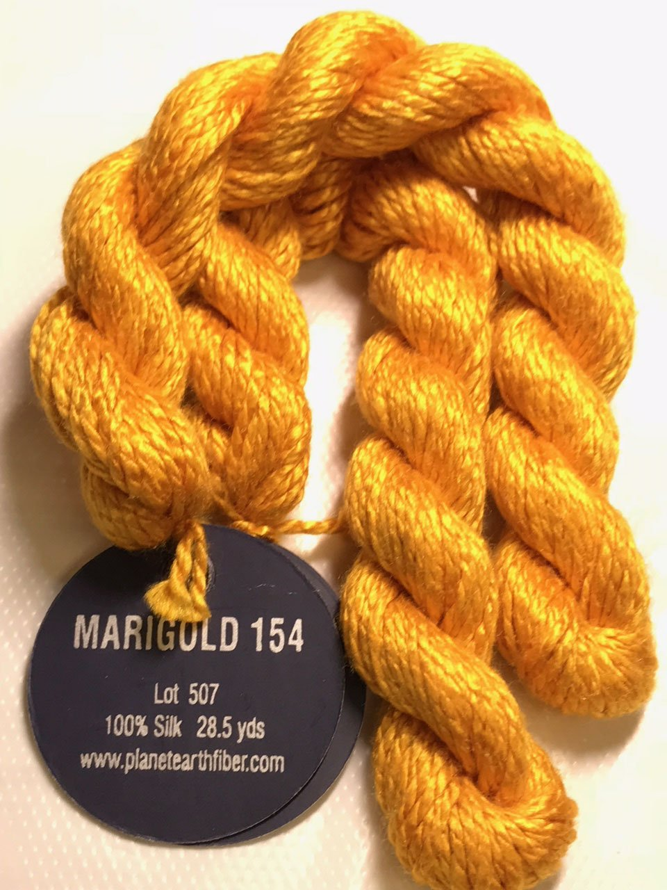 PLANET EARTH FIBER-SILK-COLOR-154-MARIGOLD-THIS LISTING IS FOR 2 SKEINS