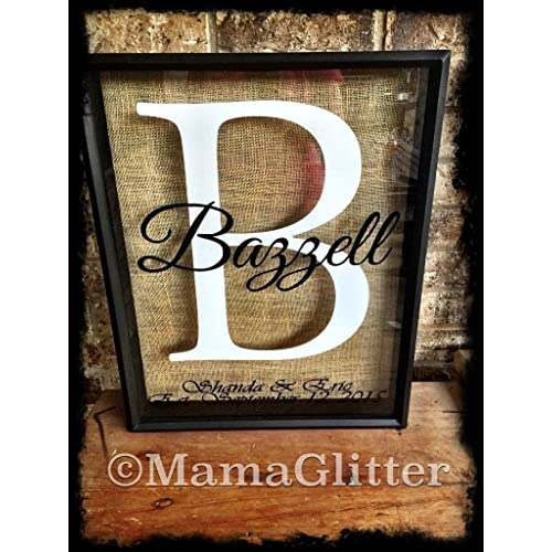 Monogram Wine Cork Holder- can be used as a alternative guest book great wedding gift