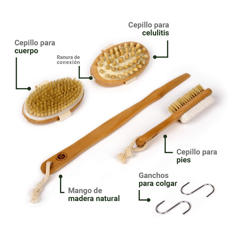 Cepillo corporal exfoliante natural con cerdas naturales ...