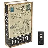 "Diversion Book Safe with Combination Lock, Decaller Safe Secret Hidden Metal Lock Box, 9 1/2"" x 6"" x 1 1/3"", Egypt"