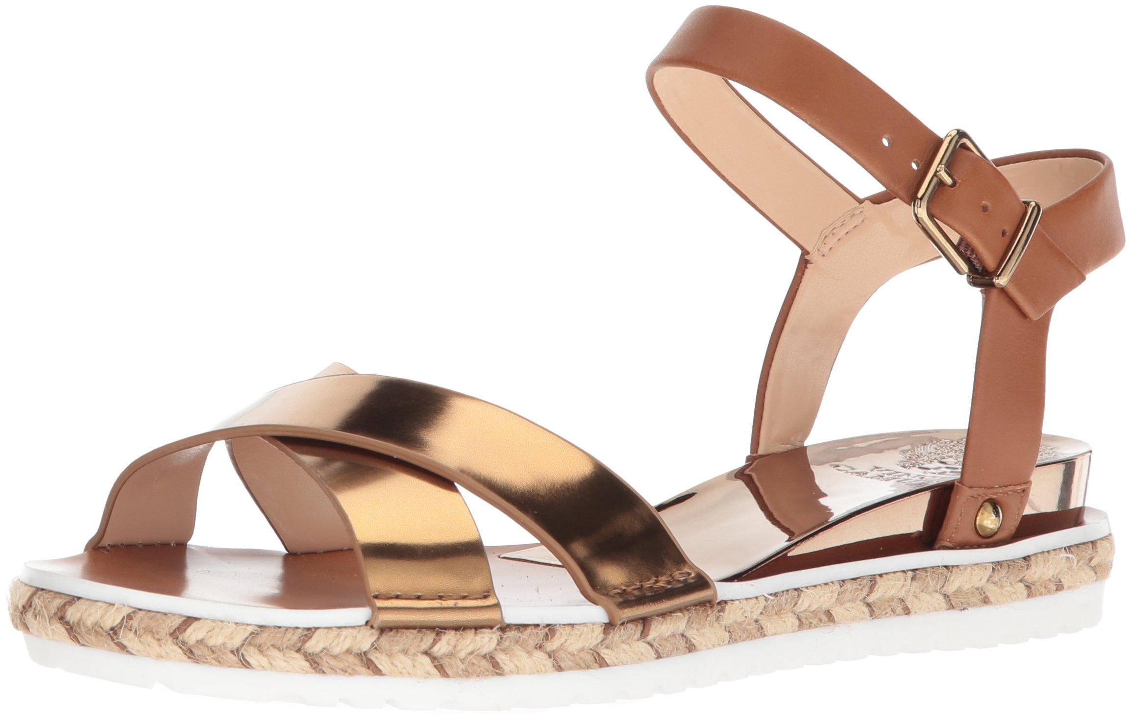 Vince Camuto Women's Kankitta Sport Sandal, Summer Cognac Combo, 10 Medium US