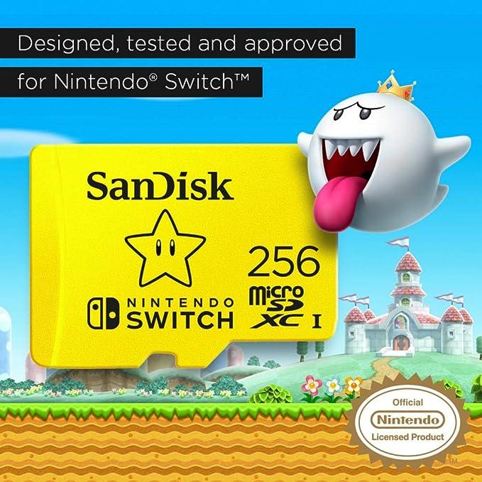 Tarjeta SanDisk microSDXC UHS-I para Nintendo Switch 256GB ...