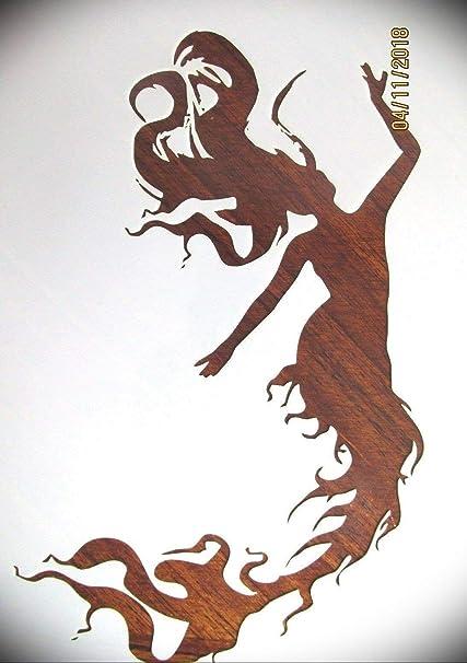 Reusable/&Durable Plastic Sheet Mermaid StencilMylar