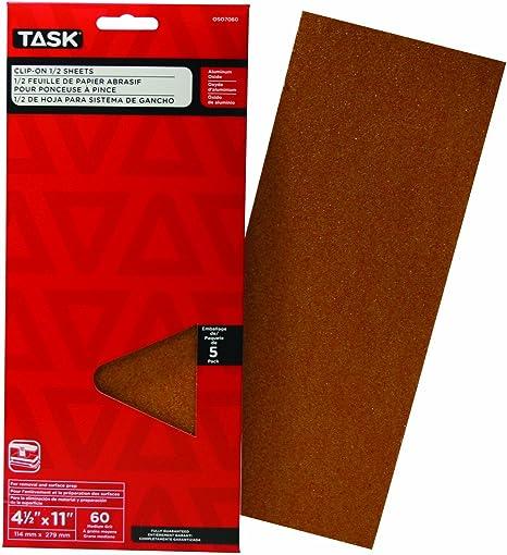Task Tools SHD58120-4 120 Grit Signature Heavy Duty Hook and Loop Sanding Disc 4 Pack 5