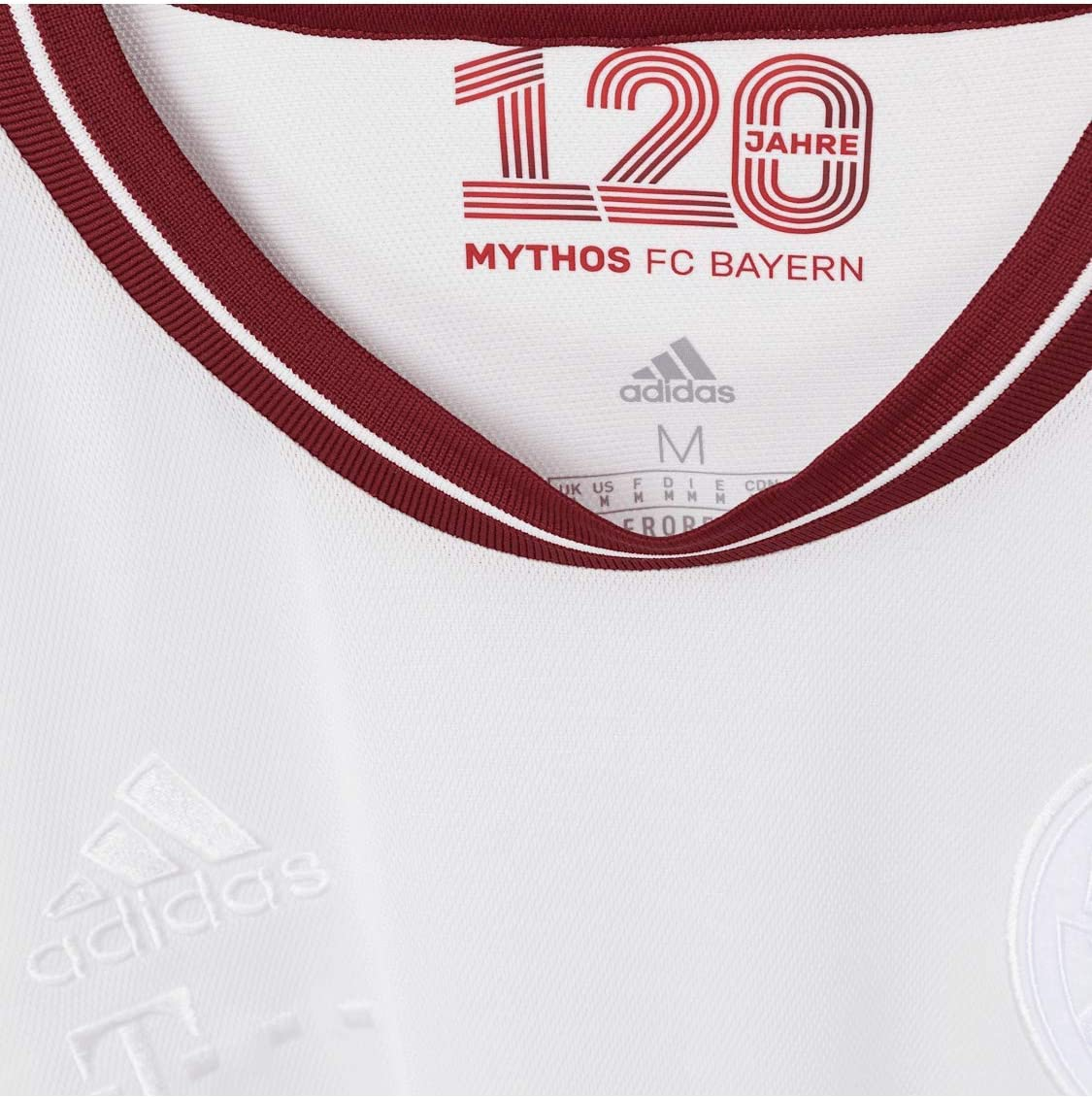 Sondertrikot zum Geburtstag FC Bayern Jubil/äumstrikot 120 Jahre