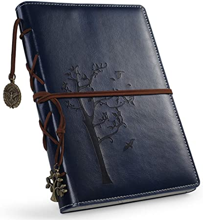 Vintage artificial Leather Writing Journal