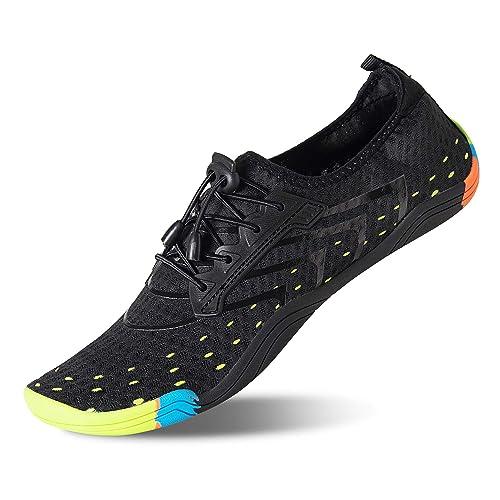 1b0b8cf9bbc4 KRIMUSWomen Men Water Shoes Quick Dry Barefoot Sports Aqua Durable Outsole  Shoes for Swim Walking Yoga