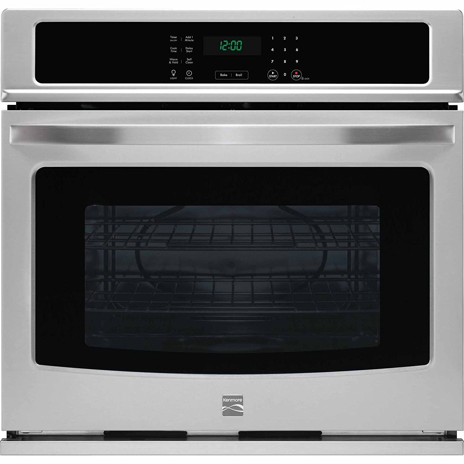 Kenmore 49423 30' Electric Single Wall Oven with Select Clean in Stainless Steel, includes delivery and hookup (Available in select cities only) Sears Brands Management Corporation (Kenmore) 02249423