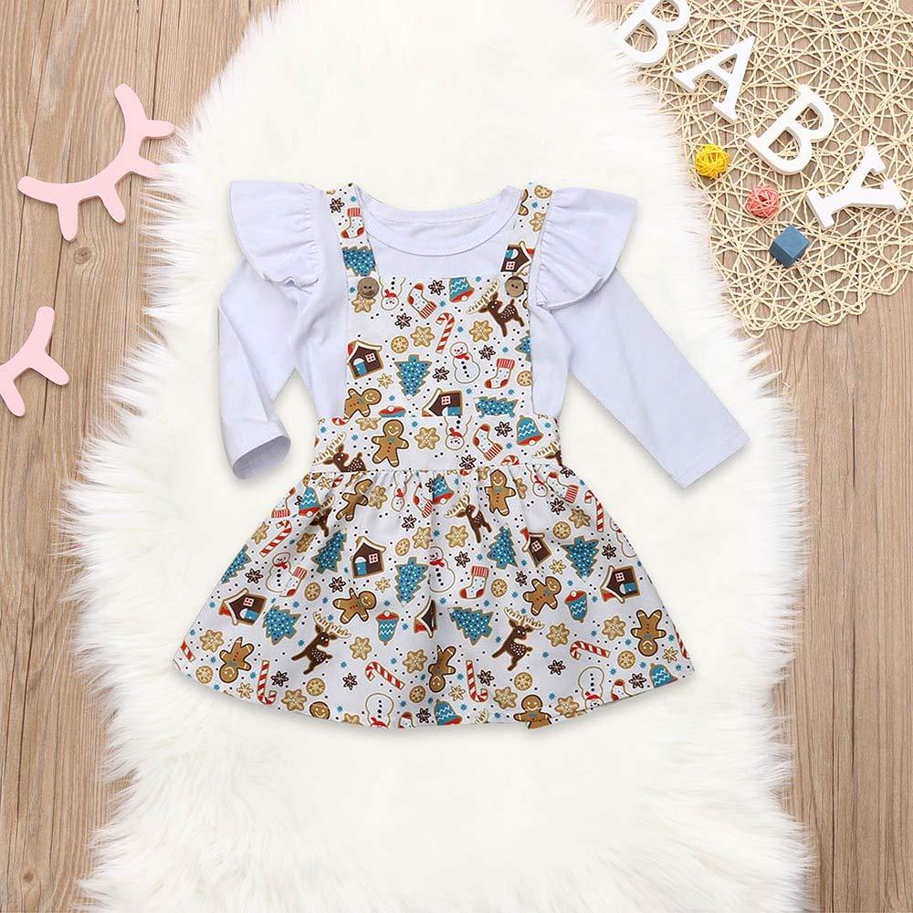 Snowman Tutu Skirts Outfits Set Christmas Baby Kids Girl Cartoon Romper Hstore Dress