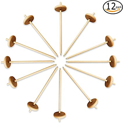 Happy Classy Drop Spindle Maple Top Whorl Spinning Clear Smooth Finish