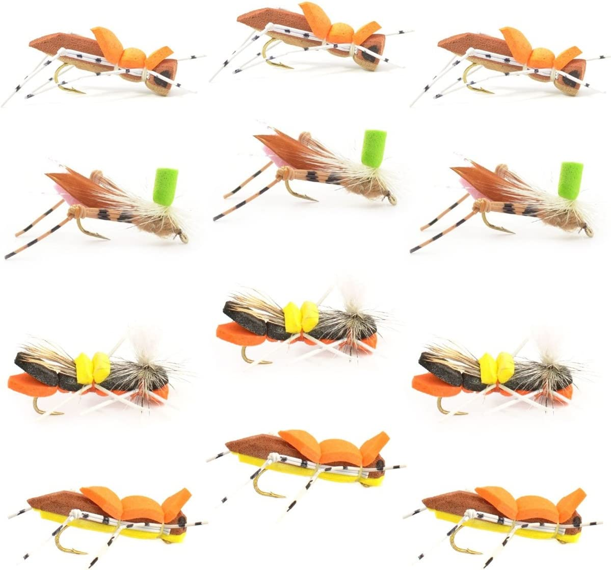 size 10 pack of 8 FLY FISHING PRIME collection GIRDLE BUG Nymphs
