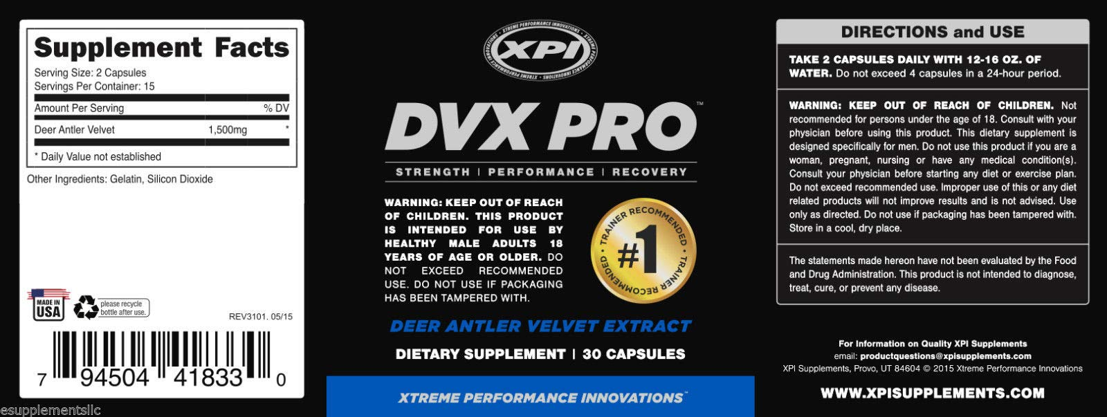 XPI DVX PRO - Ultra-Purified Deer Antler Velvet, Boost Strength & Muscular Build, Reduce Recovery TIME by XPI (Image #2)