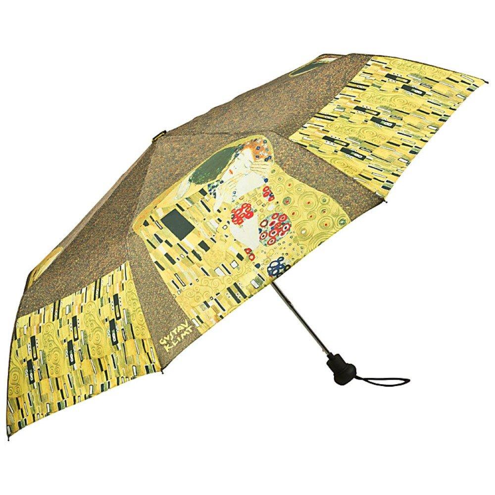 VON LILIENFELD Paraguas Bolsillo Plegable Mujer Automática Motivo Arte Gustav Klimt: El Beso: Amazon.es: Equipaje