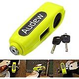 AUDEW Motorcycle /Scooter/ ATV /Handlebar Grip Lock ,Anti-theft Brake Lever Security Lock, Throttle Grip Lock Yellow