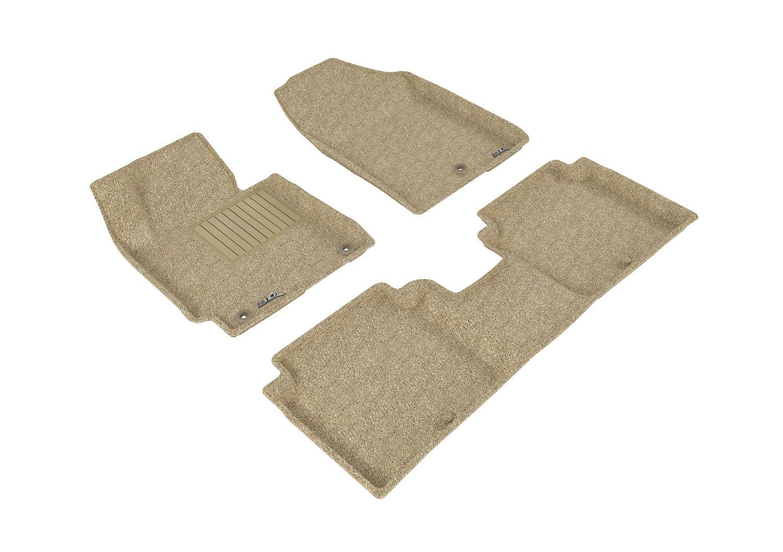 Black Classic Carpet 3D MAXpider Front Row Custom Fit Floor Mat for Select Hyundai Elantra Models