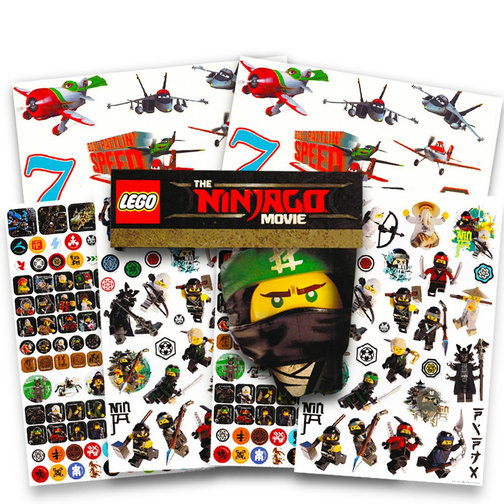 Amazon.com: Lego Ninjago Stickers Party Favors Pack -- over ...