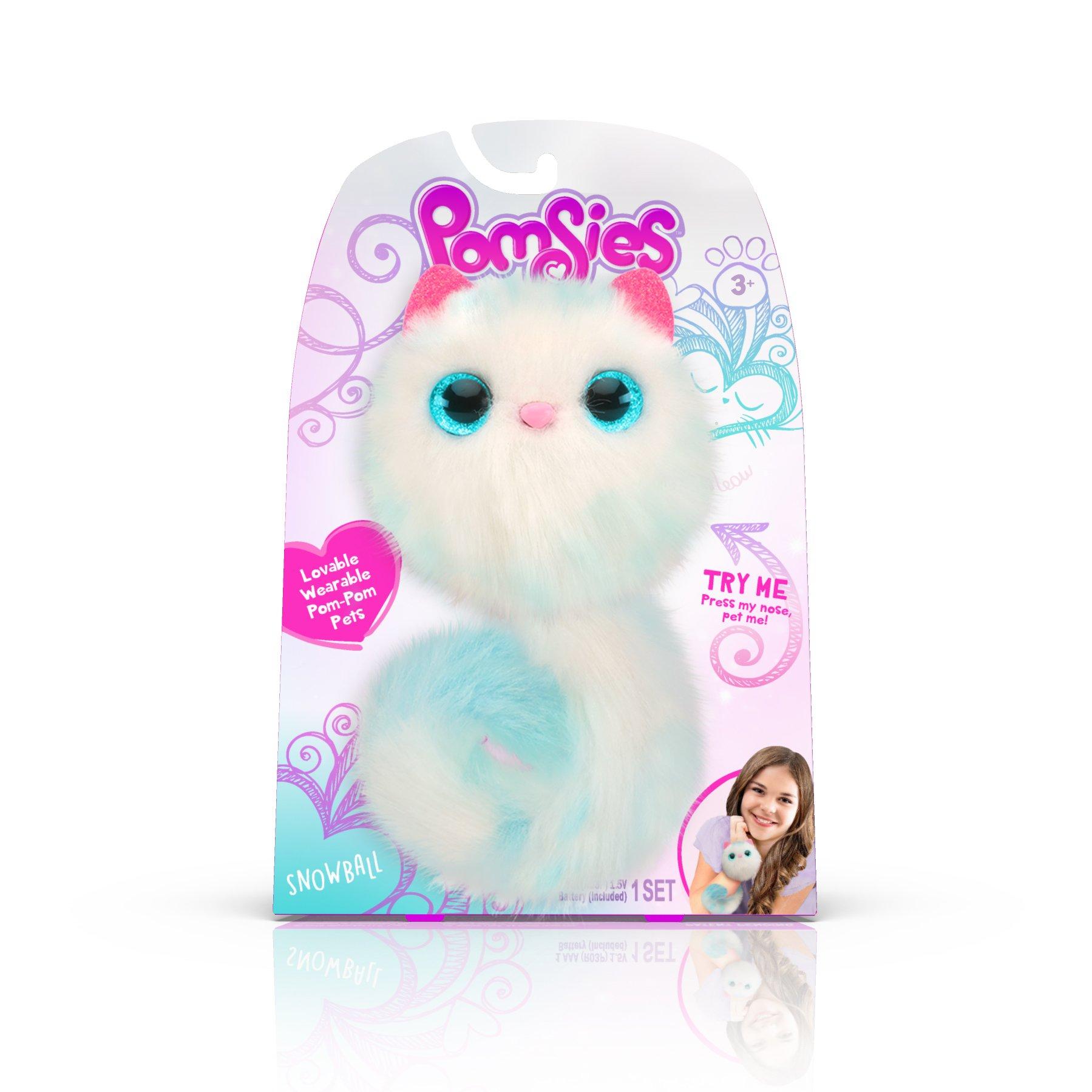 Pomsies Snowball Plush Interactive Toys, White