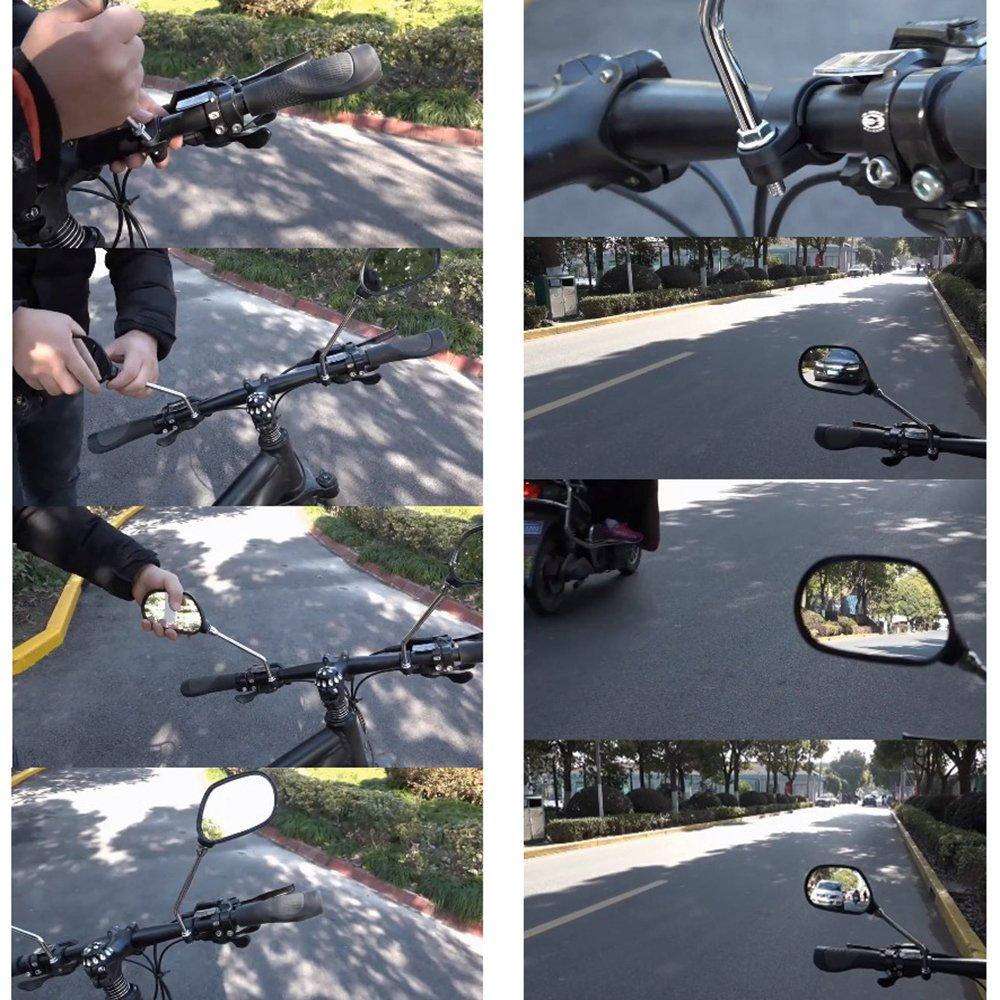 13 x 5cm Universal 360 Rotate Bike Bicycle Cycling Handlebar Rearview Mirror