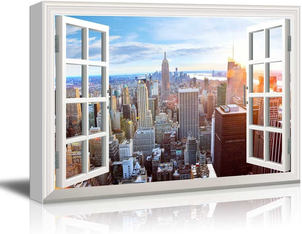 empire state building canvas art