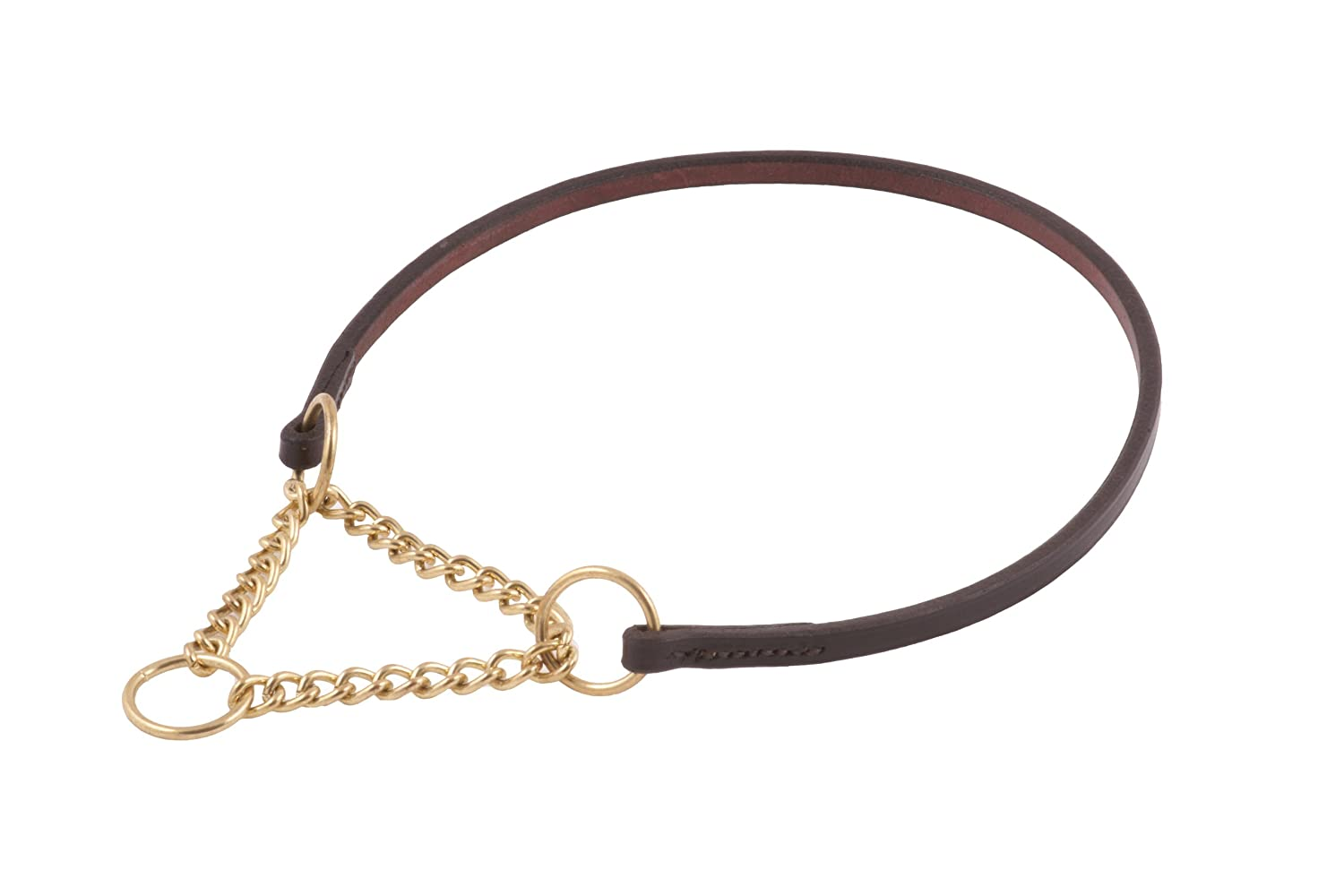 Brown Alvalley Flat Slip Collar for Dogs Thickness 1 4 in x Large 18 in
