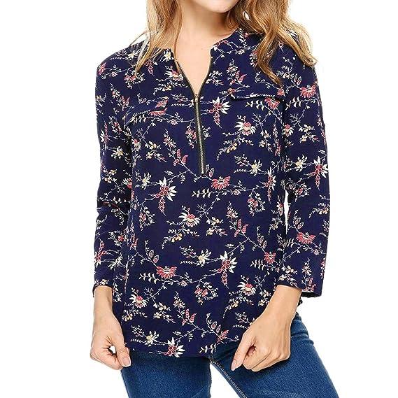 Mujer blusa tops elegante Atractivo moda urbano,Sonnena Moda mujeres casual FLARE manga impresa manga larga O-cuello blusa tops Otoño verano fiesta citas ...