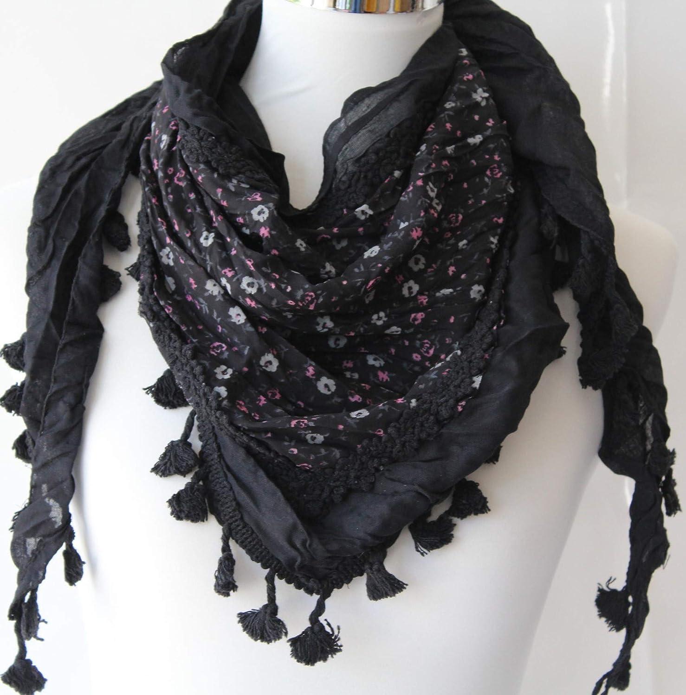 elite.shop Damen Schal Tuch Vintage Spitze Dreiecktuch