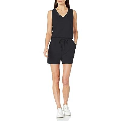 Essentials Women's Studio Terry Fleece Romper: Clothing