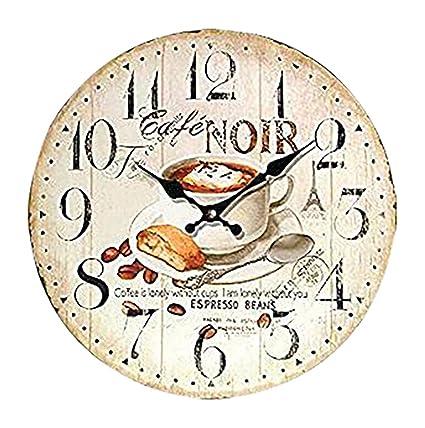 OROLOGIO DA PARETE DESIGN CAFE NOIR ESPRESSO OROLOGIO PER CUCINA O ...