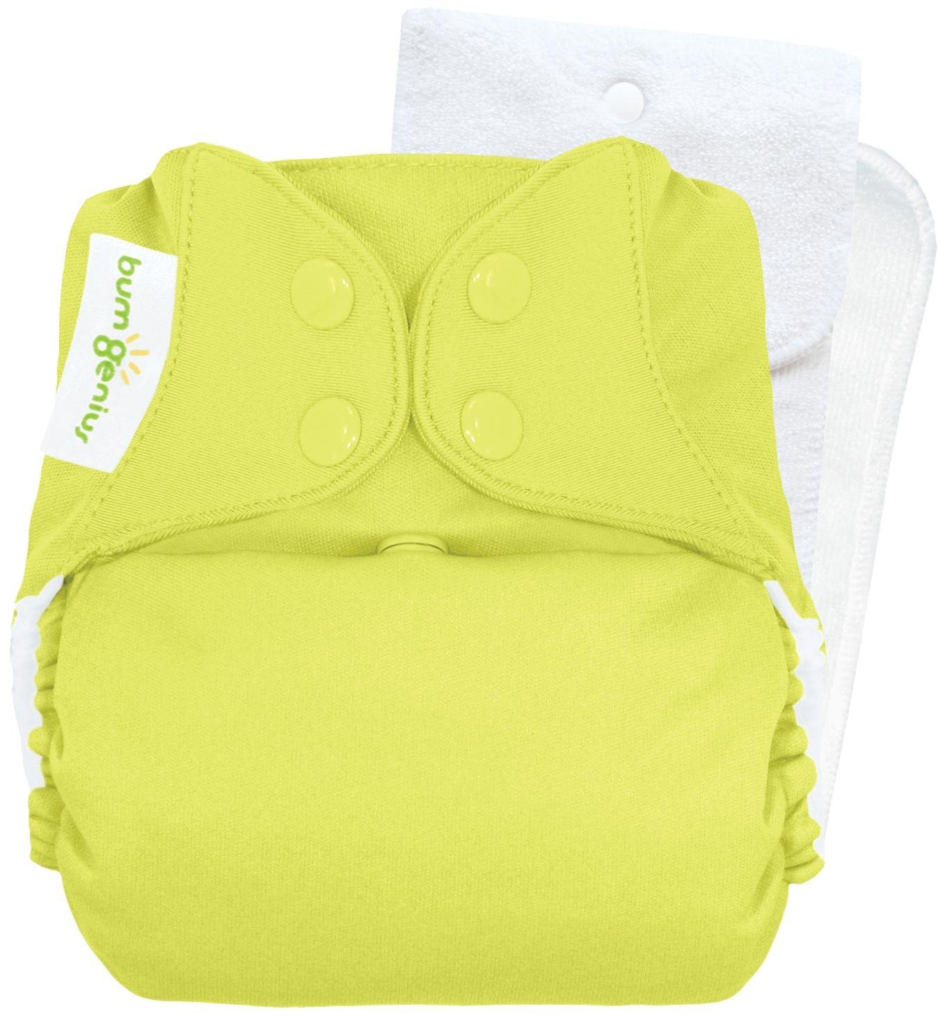 Bumgenius Cloth Diaper Jolly Citron Green One Size Snap