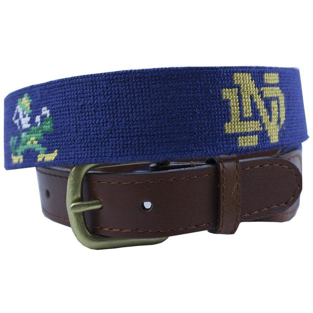 University of Notre Dame Needlepoint Belt in Navy by Smathers & Branson