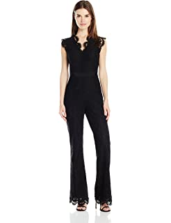 3ca991eb32 Amazon.com  Rebecca Taylor Women s Jewel Velvet Jumpsuit