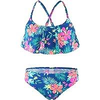 Moon Tree Girls Two Piece Bikini Swimsuits Bathing Suit Swim Suit Blue
