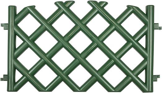Recinzioni Plastica Per Giardino.Steccato Recinzione Da Giardino Verde 3 5 M Di Lunghezza Di Plastica