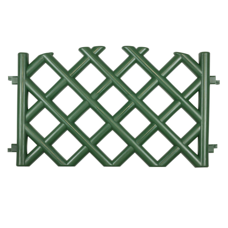 3 5 m Gartenzaun Zierzaun Jägerzaun grün h 45 cm Zaun Zaunfelder