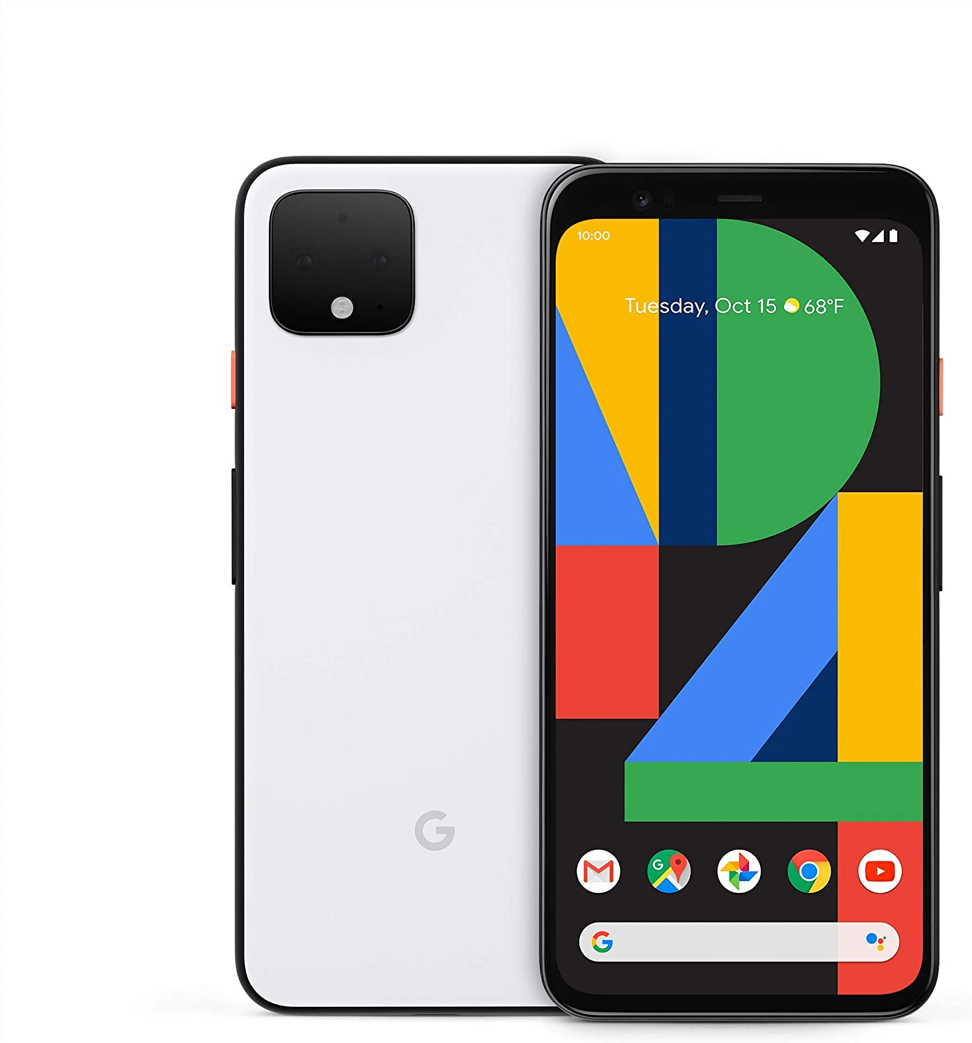 Pixel 4 - Clearly White - 64GB - Unlocked (Renewed)