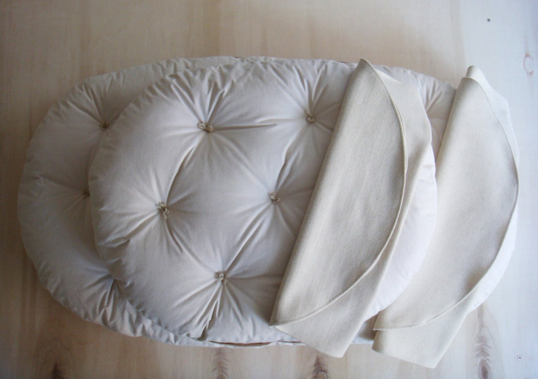 STOKKE Sleepi Mini & Bed Size Wool Mattresses and Wool Protectors / Non-toxic Nursery Bedding / Cotton , Linen, Silk or Wool Covering / Oeko-Tex Certified Wool