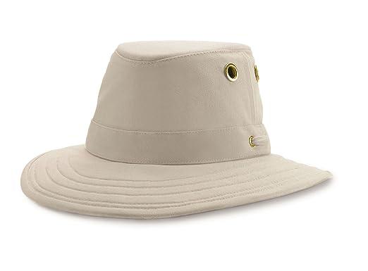 f9b20ea09dc2d Tilley T4 Cotton Duck Wide Curved Brim Hat - Khaki Olive