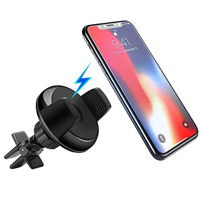 sports shoes b0229 2e187 Amazon.com: Wireless Charging Car Mount, 2 in 1 Car Air Vent Phone ...