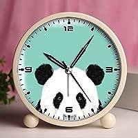 GIRLSIGHT Alarm Clock, Retro Portable Clocks with Nightlight Custom designs -cute and funny panda 65.Cute panda