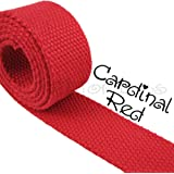 1 1//4 Inch Natural Heavy Cotton Belt Webbing Closeout 60 Yards