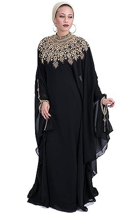de1e8d6e1e8a Covered Bliss Athena Kaftan for Women – Premium Design - 100% Chiffon with  Eloquently Hidden