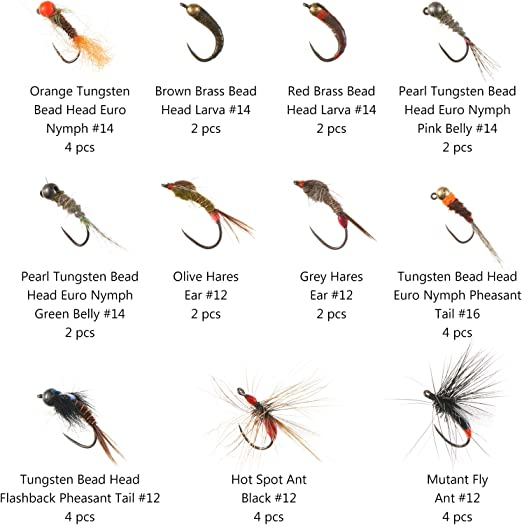 Size 12 Set of 3 Barbless-Hanak Grayling Fly Fishing Dry Flies For Trout