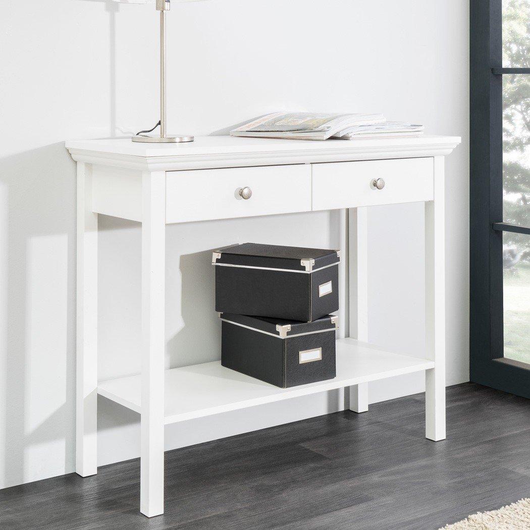 Konsole Landström 44 weiß 90x75x35 cm Konsolentisch Garderobe ...