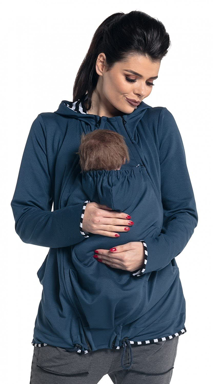 Zeta Ville - Sudadera capucha portabebé bolsillo funcional - para mujer - 495c carrier_top_495