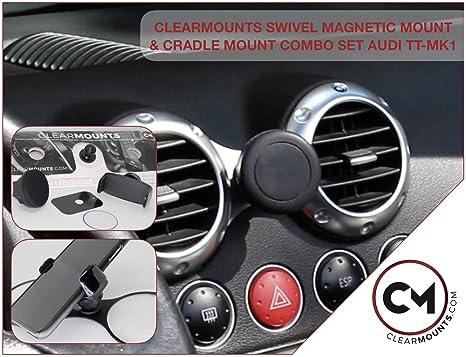 size 40 6fa35 0292d Amazon.com: CLEARMOUNTS Audi Phone Holder – Designed for: 2000-2006 ...