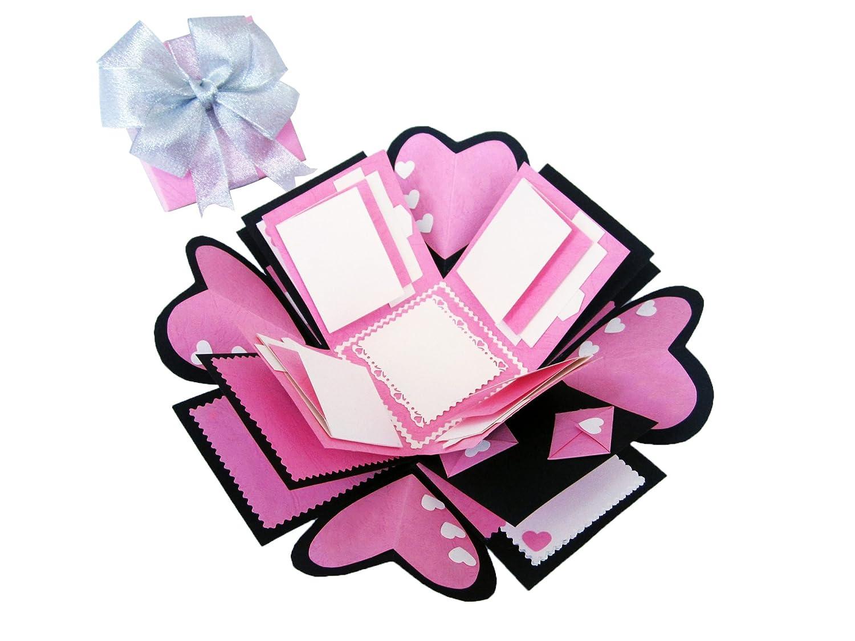 Amazon.com: Love Explosion Gift Box Photo Album (Pink) - 100 ...