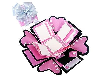 Amazon Love Explosion Gift Box Photo Album Pink 100