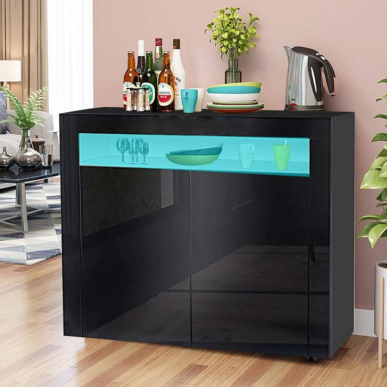 Bianca Dimensioni 108 Mobili Cucina//Credenza Soggiorno//Mobiletti con Luce a LED per Sala da Pranzo e Soggiorno A YOLEO Credenza Cucina L x 40 P x 92 cm