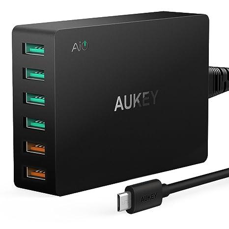 Aukey Quick Charge 3.0 - Cargador USB con 2 Puertos (60 W ...