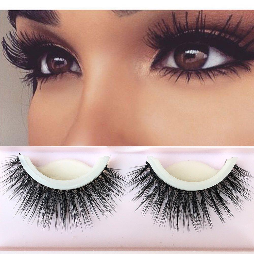 3D Lashes Self-adhesive False Eyelashes Makeup Reusable Natural Hand Made Fake Eyelashes 1 Pair Package 2018 New Style My Precious Hair